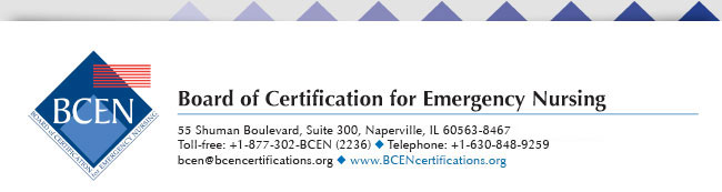 Board of Certification for Emergency Nursing